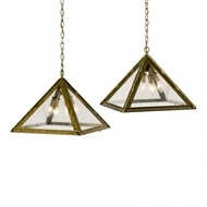 Lowcountry Originals Inverted Pyramid with Seeded Glass Pendant LCO-155