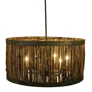 Lowcountry Originals Lighting Marsh Grass Drum Chandelier