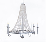 Lowcountry Originals Oval with Rock Crystal Swag Chandelier