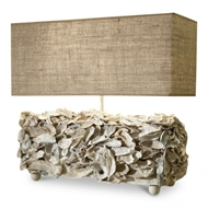 Lowcountry Originals Oyster Box Lamp with Shade LCO-L35-OSTRBX