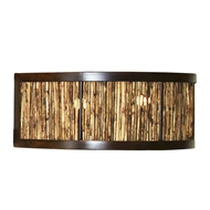 Lowcountry Originals Quarter Sphere Marsh Reed Sconce