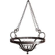 Lowcountry Originals Round Black Basket Chandelier