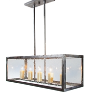 Lowcountry Originals Seeded Glass Rectangular Chandelier