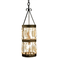 Lowcountry Originals Shell Cylinder Pendant Chandelier