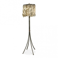 Lowcountry Originals Shell Drum Floor Lamp