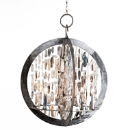 Lowcountry Originals Shelled Double Ring Chandelier
