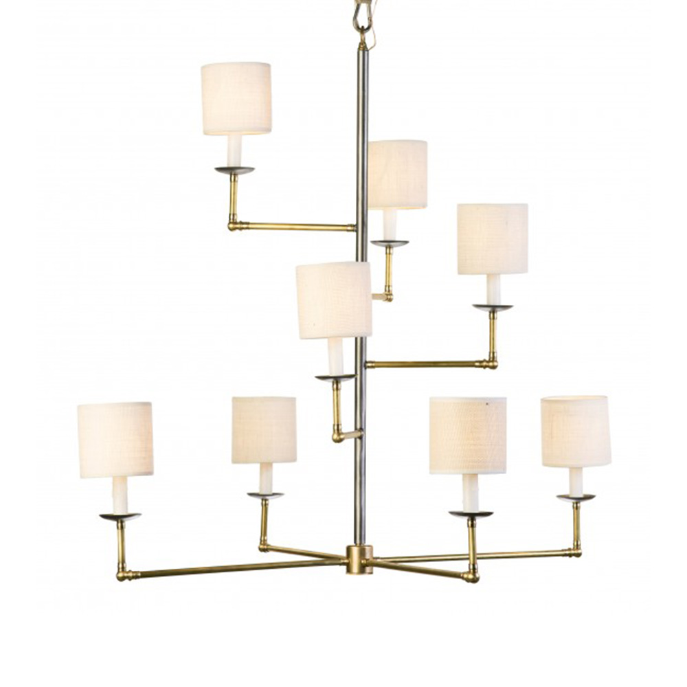 Lowcountry Original Staggered Arm Chandelier with Shades LCO-IH-158
