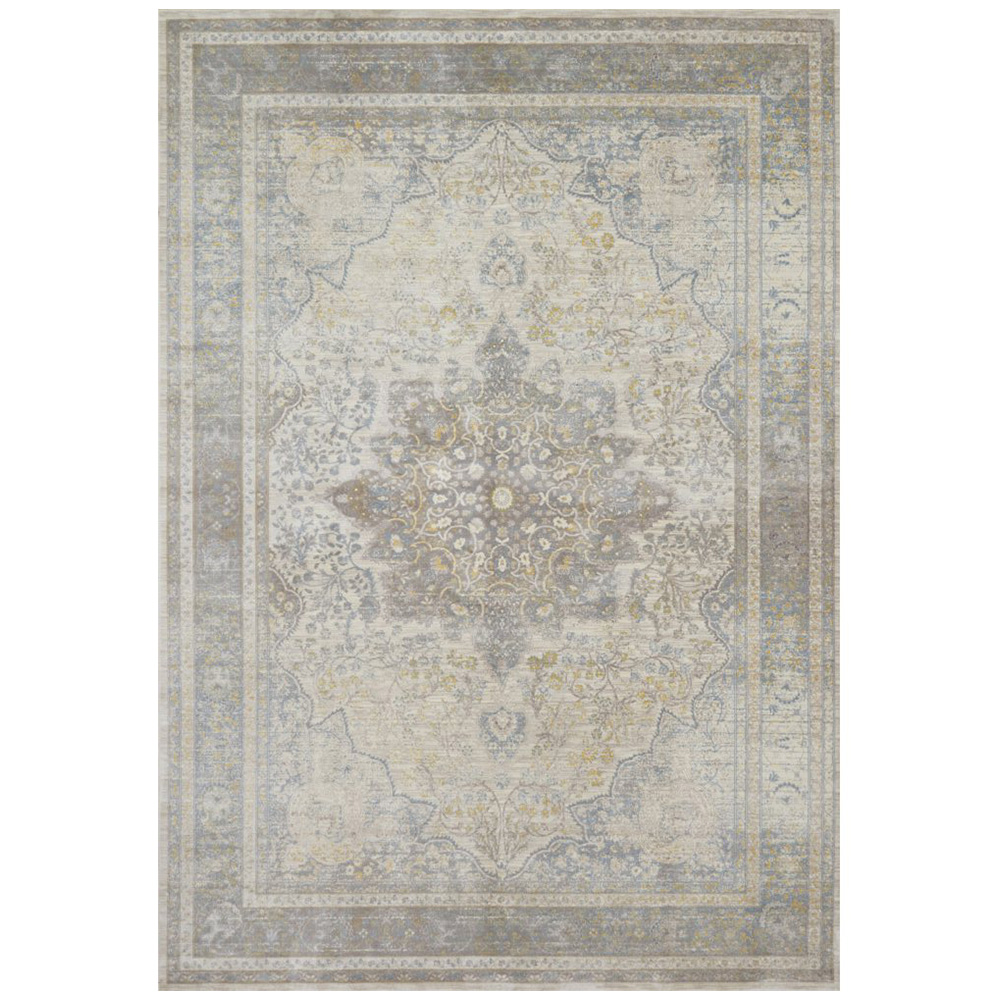 Magnolia Home Ella Rose Rug by Joanna Gaines - Stone & Blue ELLAEJ-07SNBB