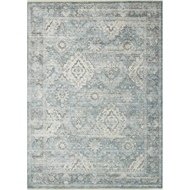 Magnolia Home Ophelia Rug by Joanna Gaines - Aqua & Grey