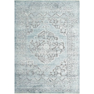 Magnolia Home Ophelia Rug by Joanna Gaines - Grey & Aqua