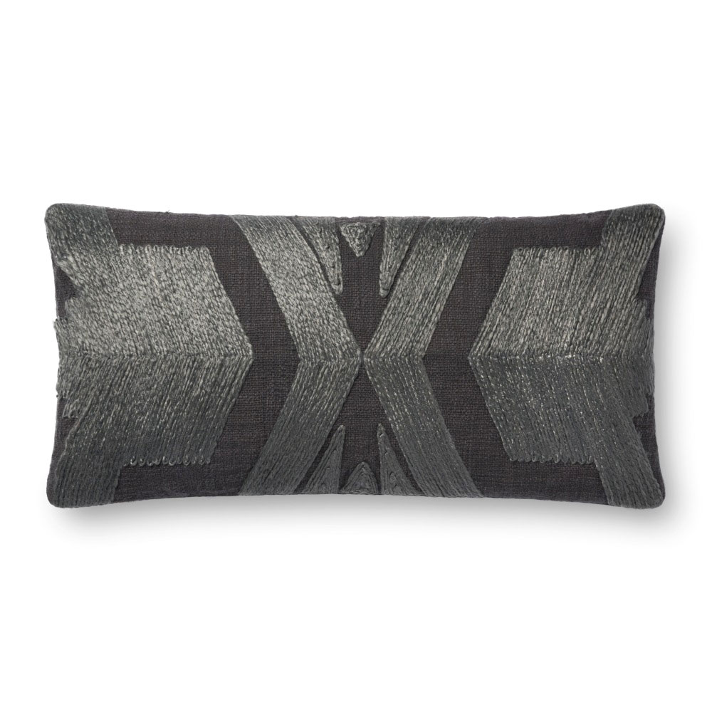 Magnolia Home by Joanna Gaines 12 X 27 Cali Pillow Charcoal - P1089