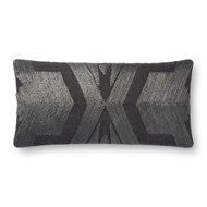 "Magnolia Home by Joanna Gaines 12"" X 27"" Cali Pillow Charcoal - P1089"