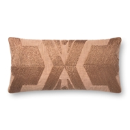 "Magnolia Home by Joanna Gaines 12"" X 27"" Cali Pillow Copper - P1089"