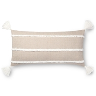 "Magnolia Home by Joanna Gaines 12"" X 27"" Ida Pillow Beige - P1091"