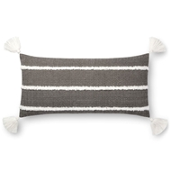 "Magnolia Home by Joanna Gaines 12"" X 27"" Ida Pillow Black - P1091"