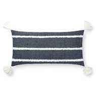 "Magnolia Home by Joanna Gaines 12"" X 27"" Ida Pillow Navy - P1091"
