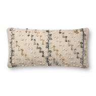 "Magnolia Home by Joanna Gaines 12"" X 27"" Percy Pillow Grey & Multi - P1082"