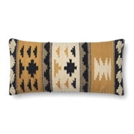 "Magnolia Home by Joanna Gaines 12"" X 27"" Walton Pillow Gold & Black - P1065"