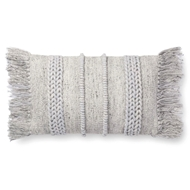 "Magnolia Home by Joanna Gaines 13"" X 21"" Bishop Pillow Grey & Grey - P1100"