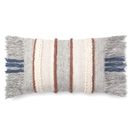 "Magnolia Home by Joanna Gaines 13"" X 21"" Bishop Pillow Grey & Multi - P1100"