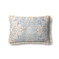 "Magnolia Home by Joanna Gaines 13"" X 21"" Elena Pillow Blue & Multi - P1069"