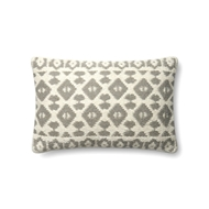 "Magnolia Home by Joanna Gaines 13"" X 21"" Emmie Kay Pillow Grey & Ivory - P1064"