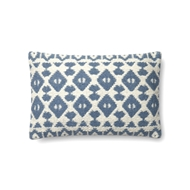 "Magnolia Home by Joanna Gaines 13"" X 21"" Emmie Kay Pillow Navy & Ivory - P1064"