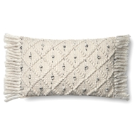 "Magnolia Home by Joanna Gaines 13"" X 21"" Jana Pillow Ivory & Black - P1054"