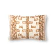 "Magnolia Home by Joanna Gaines 13"" X 21"" Margaret Pillow Beige & Rust - P1083"
