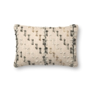 "Magnolia Home by Joanna Gaines 13"" X 21"" Percy Pillow Grey & Multi - P1082"