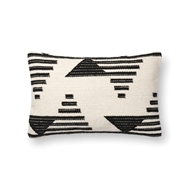 "Magnolia Home by Joanna Gaines 13"" X 21"" Trice Pillow Black & White - P1099"