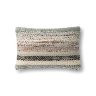 "Magnolia Home 13"" x 21"" Lindsay Pillow Grey & Multi - P1044 by Joanna Gaines"