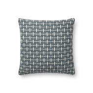 "Magnolia Home by Joanna Gaines 18"" X 18"" Cordelia Pillow Blue - P1096"