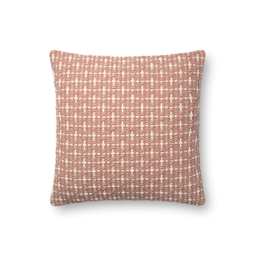 "Magnolia Home by Joanna Gaines 18"" X 18"" Cordelia Pillow Blush - P1096 - 10-P1096BH00PIL1"