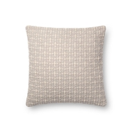 "Magnolia Home by Joanna Gaines 18"" X 18"" Cordelia Pillow Grey - P1096"
