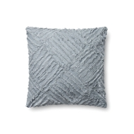 "Magnolia Home by Joanna Gaines 18"" X 18"" Evan Pillow Lt. Blue - P1067"