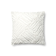 "Magnolia Home by Joanna Gaines 18"" X 18"" Evan Pillow White - P1067"