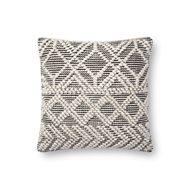 "Magnolia Home by Joanna Gaines 18"" X 18"" Imogene Pillow Ivory & Black - P1095"