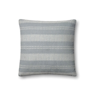 "Magnolia Home by Joanna Gaines 18"" X 18"" Isabelle Pillow Lt. Blue - P1066"