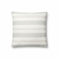 "Magnolia Home by Joanna Gaines 18"" X 18"" Isabelle Pillow White & Light Blue - P1066"