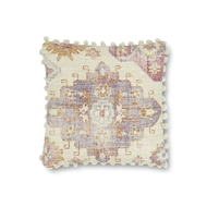 "Magnolia Home by Joanna Gaines 18"" X 18"" Lin Pillow Pink & Multi - P1079"
