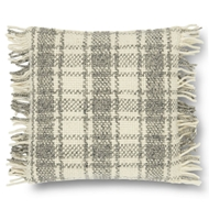 "Magnolia Home by Joanna Gaines 22"" X 22"" Alena Pillow Ivory & Grey - P1061"