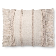 "Magnolia Home by Joanna Gaines 22"" X 22"" Bishop Pillow Beige & Beige - P1100"