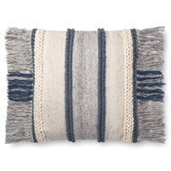 "Magnolia Home by Joanna Gaines 22"" X 22"" Bishop Pillow Blue & Multi - P1100"