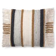 "Magnolia Home by Joanna Gaines 22"" X 22"" Bishop Pillow Gold & Multi - P1100"
