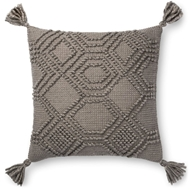 "Magnolia Home by Joanna Gaines 22"" X 22"" Eleanor Pillow Grey - P1094"