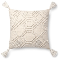 "Magnolia Home by Joanna Gaines 22"" X 22"" Eleanor Pillow Ivory - P1094"