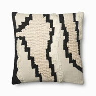 "Magnolia Home by Joanna Gaines 22"" X 22"" Elise Pillow Natural & Black - P1068"