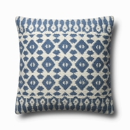 "Magnolia Home by Joanna Gaines 22"" X 22"" Emmie Kay Pillow Navy & Ivory - P1064"