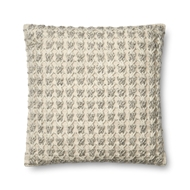 "Magnolia Home by Joanna Gaines 22"" X 22"" Jamie Pillow Ivory & Grey - P1053"